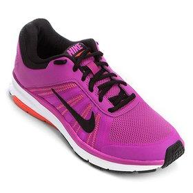 a09fc749f4 Tênis Nike Dart 12 MSL Feminino - Cinza e Rosa - Compre Agora