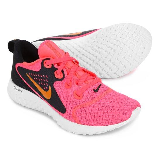 6b410f99911 Tênis Nike Legend React Feminino - Rosa e Preto - Compre Agora ...