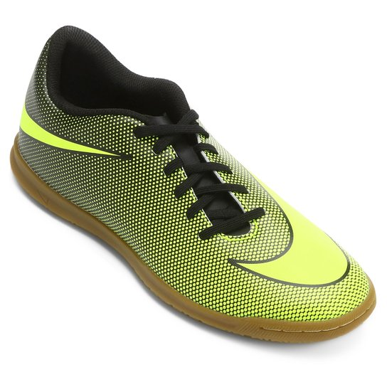 c7d4714da Chuteira Futsal Nike Bravata 2 IC - Preto e Amarelo   Loja do Inter