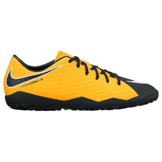 the latest 9cf5b 2c4a0 Chuteira Society Nike Hypervenom Phelon 3 TF - Laranja+Preto