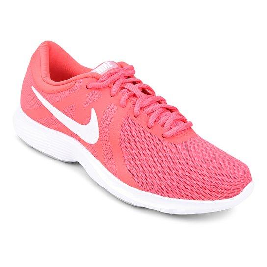 75c5cc3812 Tênis Nike Wmns Revolution 4 Feminino - Rosa e Branco - Compre Agora ...