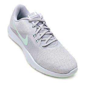 8a67eb9f1a0f6 Tênis Nike Flex Essential TR Feminino - Cinza e Azul | Loja do Inter