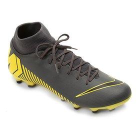 a305b1ac53 Chuteira Campo Nike Mercurial Superfly 6 Academy - Preto e Dourado ...