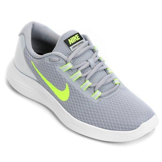 0ea7d01a801 Tênis Nike Lunarconverge Masculino - Cinza+Verde Limão