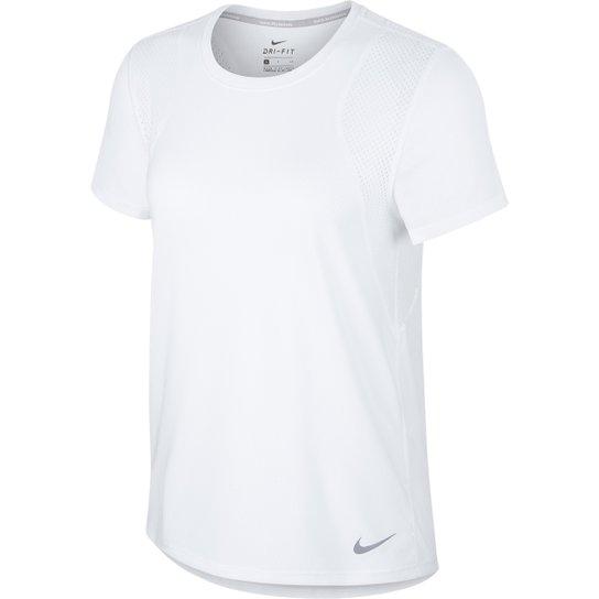 0a4dd1d9baaab Camiseta Nike Run Ss Feminina - Branco - Compre Agora