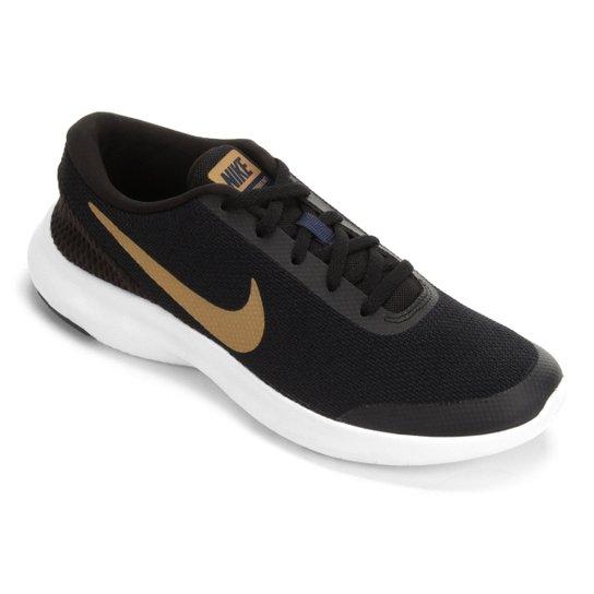 222d254a729 Tênis Nike Flex Experience RN 7 Feminino - Preto e Dourado - Compre ...