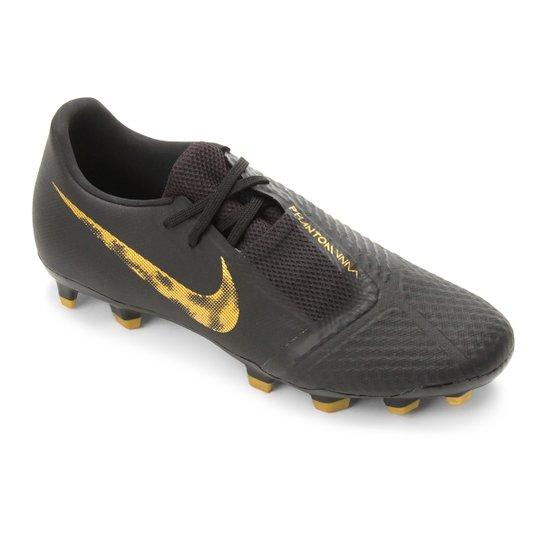 5c07eb99bf3e7 Chuteira Campo Nike Phantom Venom Academy FG - Preto e Dourado ...
