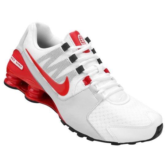 203f840ea0a7a Tênis Nike Shox Avenue Masculino - Branco+Vermelho