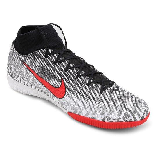 405e81a42b536 Chuteira Futsal Nike Mercurial Superfly 6 Academy Neymar Jr IC -  Branco+Vermelho