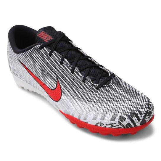 4b01d5f520e Chuteira Society Nike Mercurial Vapor 12 Academy Neymar Jr TF -  Branco+Vermelho