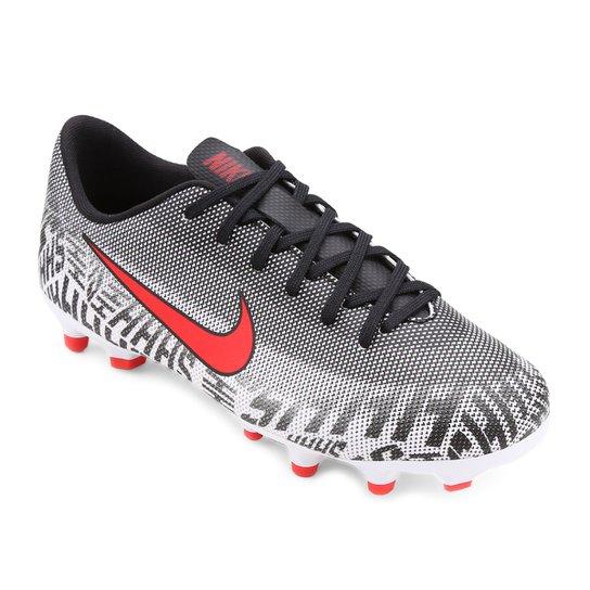 212adde1ea6 Chuteira Campo Infantil Nike Mercurial Vapor 12 Academy Gs Neymar Jr FG -  Branco+Vermelho