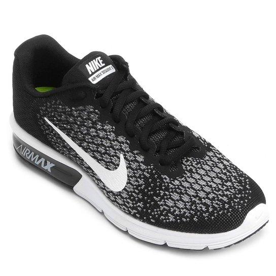 4c03a31c16b Tênis Nike Air Max Sequent 2 Feminino - Preto e Branco - Compre ...