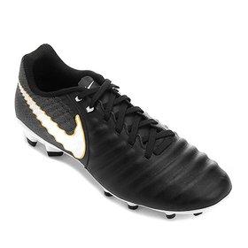 Chuteira Campo Nike Tiempo Ligera 4 FG - Preto e Laranja - Compre ... 8f4807d43e87f