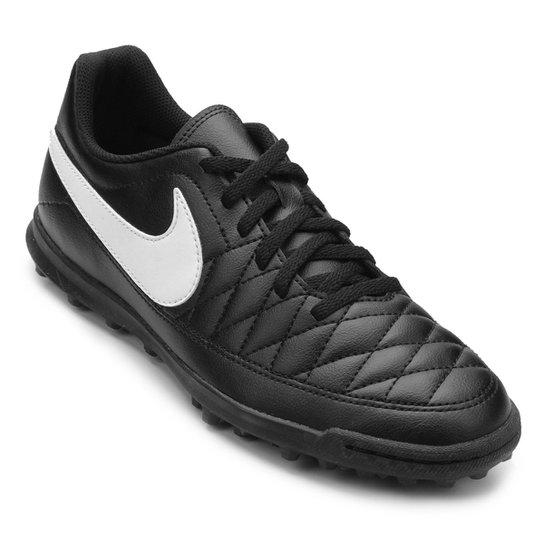 186460c25ab68 Chuteira Society Nike Majestry TF - Preto e Branco | Loja do Inter