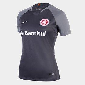Camisa Infantil Internacional III 2018 s n° - Torcedor Nike - Cinza ... 338cff04a572e