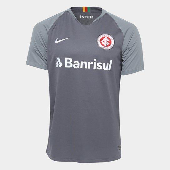 Camisa Internacional III 2018 s n° - Torcedor Nike Masculina - Cinza+Branco 4ab66d5b09b06