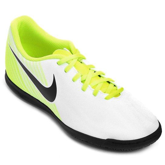 ebde968bb2 Chuteira Futsal Nike Magista Ola II IC Masculina - Branco e Preto ...