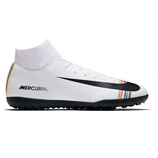 459e20b89076c Chuteira Society Nike Mercurial Superfly 6 Club CR7 TF - Branco+Preto