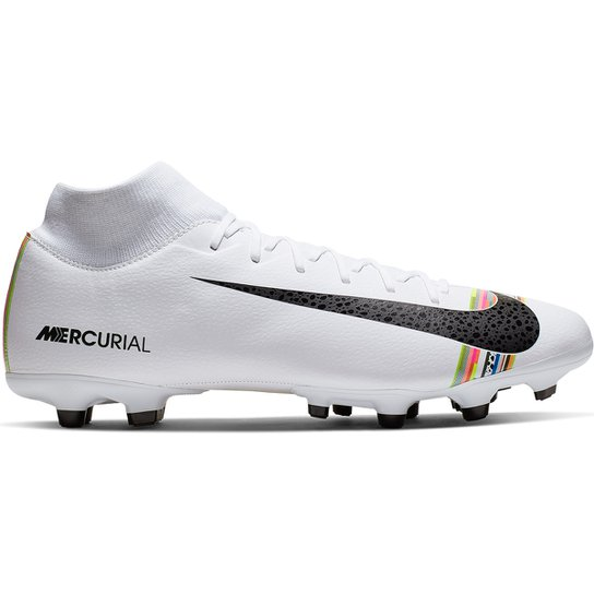 3f9fcc3adf0f6 Chuteira Campo Nike Mercurial Superfly 6 Academy CR7 FG - Branco+Preto