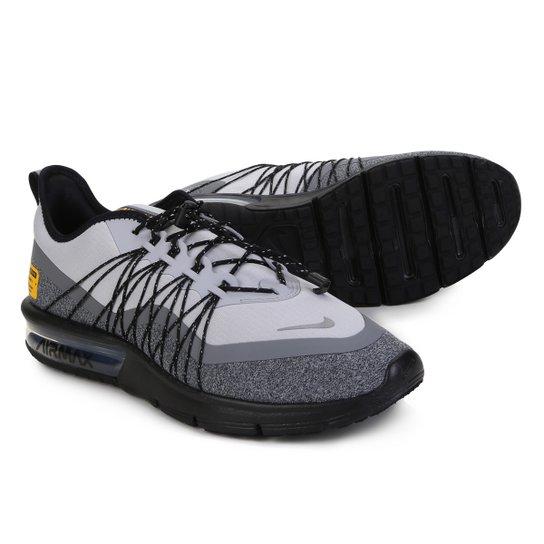 324483017 Tênis Nike Air Max Sequent 4 Utility Masculino - Cinza e Preto ...