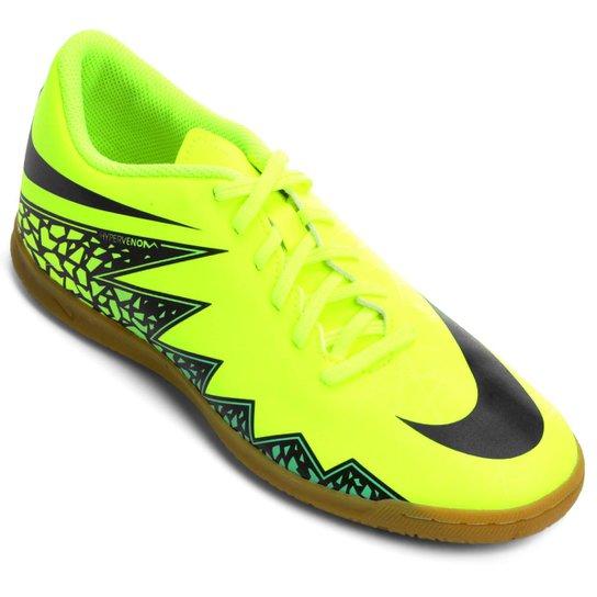 d6a678148e Chuteira Futsal Nike Hypervenom Phade 2 IC - Verde Limão+Preto