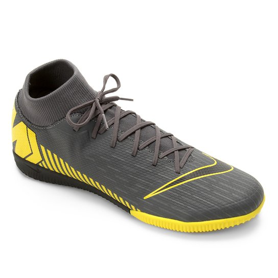235c295167 Chuteira Futsal Nike Mercurial Superfly 6 Academy IC - Cinza+Amarelo