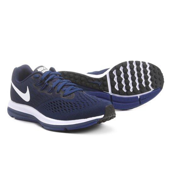 72e5a042555 Tênis Nike Zoom Winflo 4 Masculino - Marinho+Branco