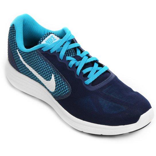 6a394e888ca Tênis Nike Revolution 3 Masculino - Marinho e Azul - Compre Agora ...