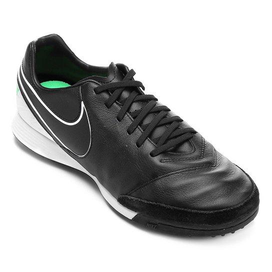 9d1fc43a1ee49 Chuteira Society Nike Tiempo Mystic 5 TF - Preto e verde - Compre ...