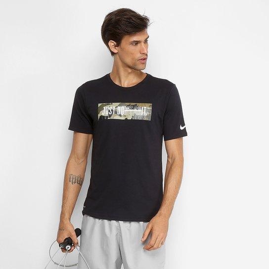 e54bf746b429e Camiseta Nike Dry Just Do It Masculina - Preto - Compre Agora