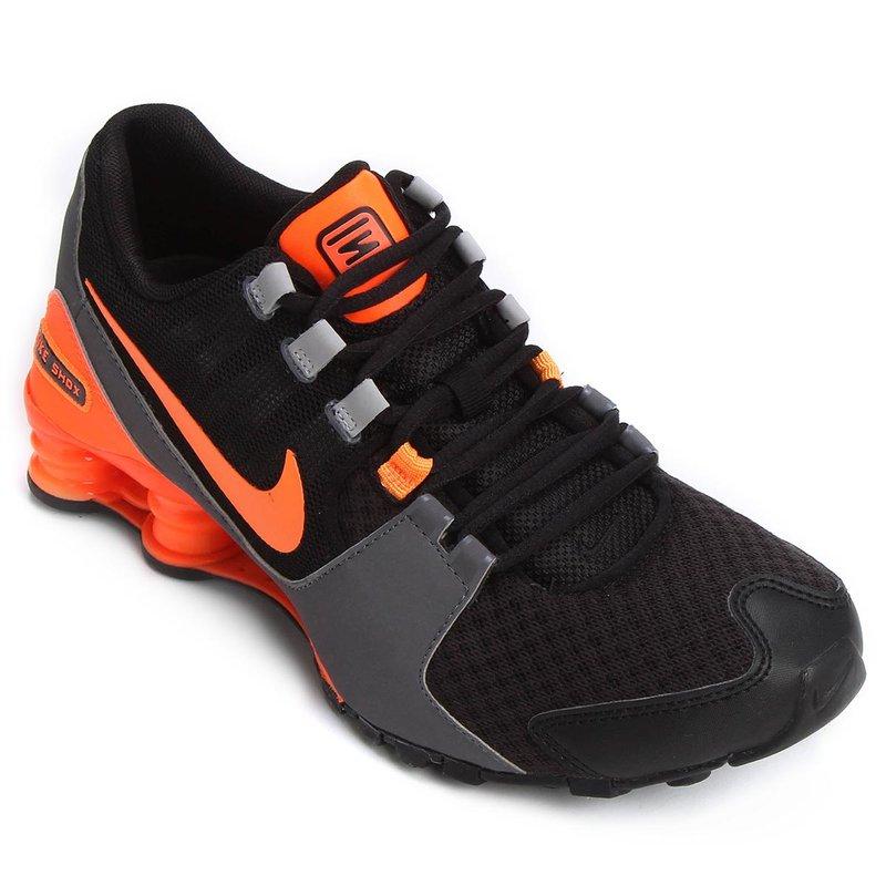 Nike Shox Laranja E Preto 98fce0b350d4a