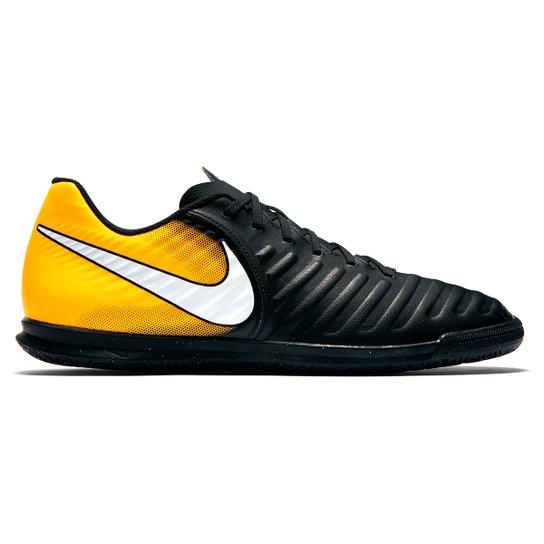 2fa1f5f798 Chuteira Futsal Nike Tiempo Rio 4 IC - Preto e Laranja - Compre ...