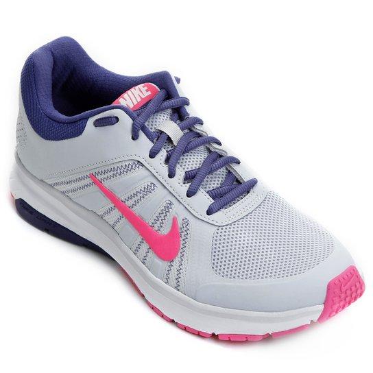 15d27aeaa89 Tênis Nike Dart 12 MSL Feminino - Cinza e Rosa - Compre Agora