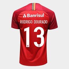 bc0b596aad Camisa Internacional I 18 19 N° 13 Rodrigo Dourado - Torcedor Nike Masculina