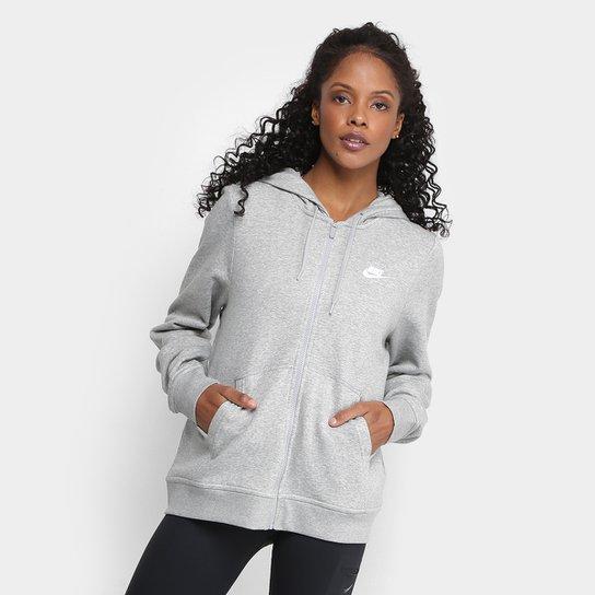 221722ab001 Jaqueta Nike Hoodie Fz Flc Feminina - Mescla - Compre Agora