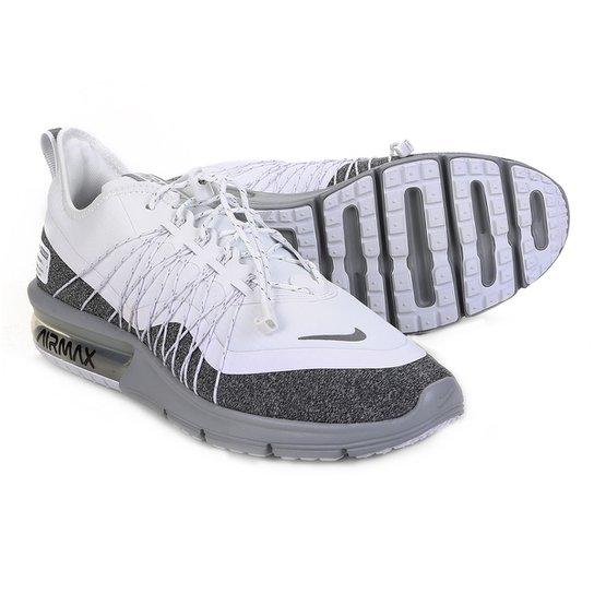 1cd29d87489 Tênis Nike Air Max Sequent 4 Utility Feminino - Branco e Cinza ...