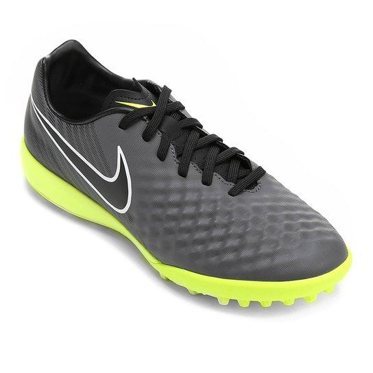 aa6888147501e Chuteira Society Nike Magista Onda II TF - Chumbo+Verde Limão