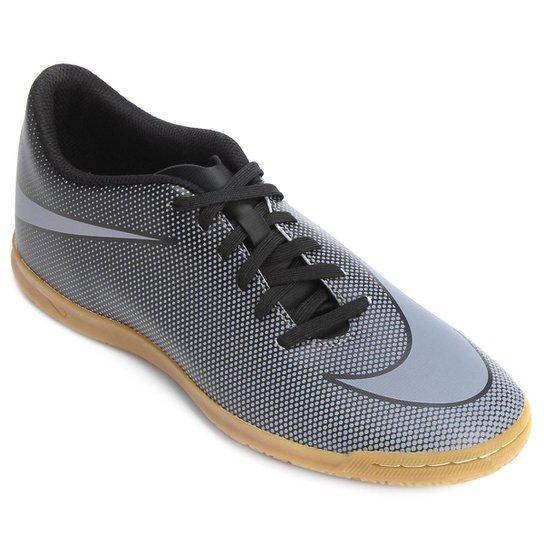 0fa96c76a7 Chuteira Futsal Nike Bravata 2 IC - Preto e Cinza - Compre Agora ...