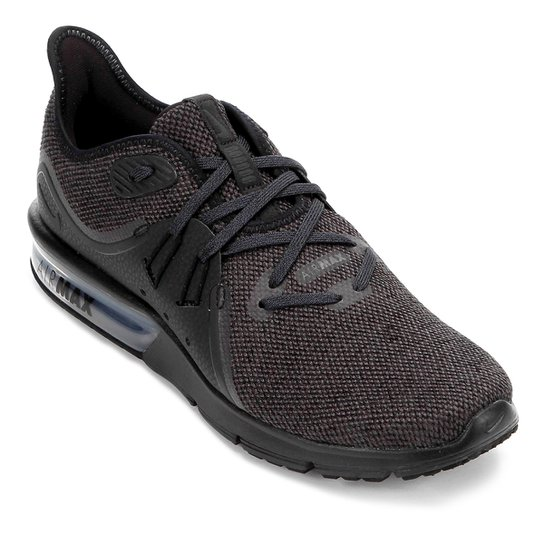 73c8c8b746c76 Tênis Nike Air Max Sequent 3 Masculino - Preto e Cinza - Compre ...