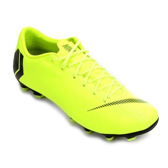 f1c519cb96f15 Chuteira Campo Nike Mercurial Vapor 12 Academy - Amarelo e Preto ...