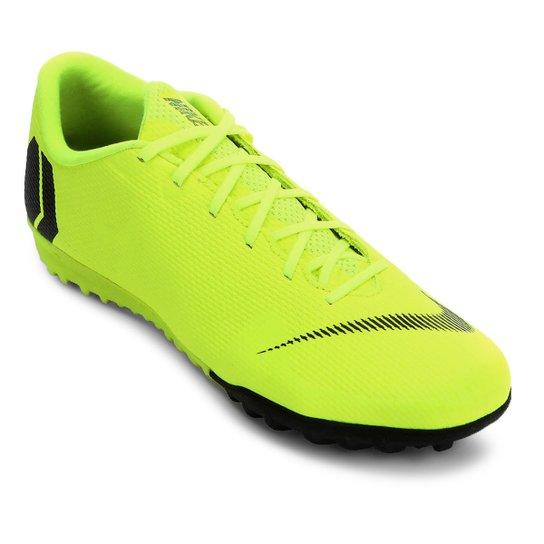 7d43fa779e Chuteira Society Nike Mercurial Vapor 12 Academy - Amarelo e Preto ...