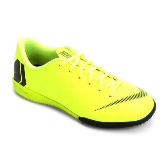 1915b45de6099 Chuteira Futsal Infantil Nike Mercurial Vapor 12 Academy GS IC - Verde+Preto