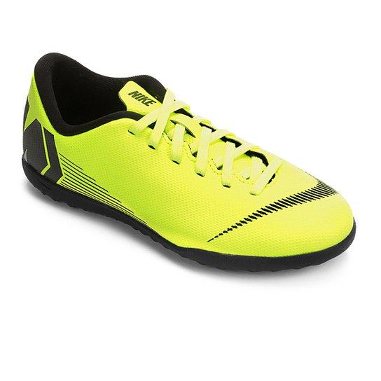 e251cabe8b Chuteira Society Infantil Nike Mercurial VaporX 12 Club GS TF - Amarelo+ Preto