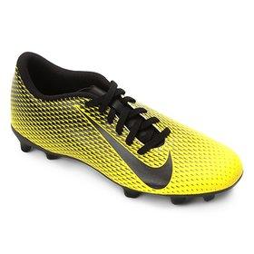 a9e2f99569 Chuteira Campo Nike Tiempo Ligera 4 FG - Preto e Laranja - Compre ...