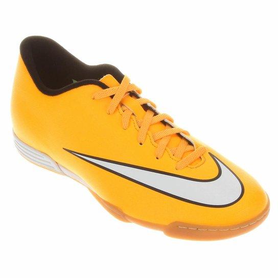 1dc26f47cd Chuteira Futsal Nike Mercurial Vortex 2 IC - Laranja+Branco