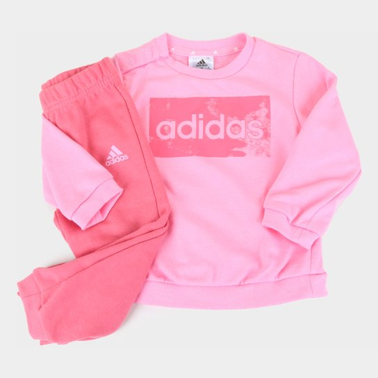 Agasalho Bebê Adidas Jogger Essentials - Rosa