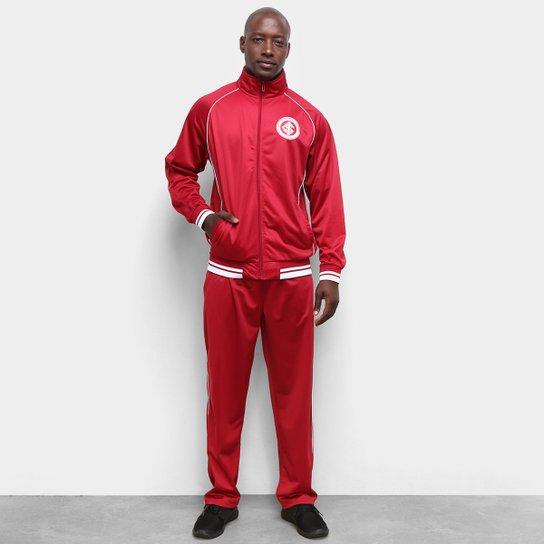 Agasalho Internacional Trilobal Clássico Masculino - Vermelho+Branco
