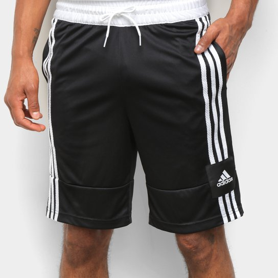 Bermuda Adidas 3G Speed X Masculina - Preto+Branco