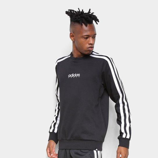 Blusa Adidas Legends Crew Masculina - Preto