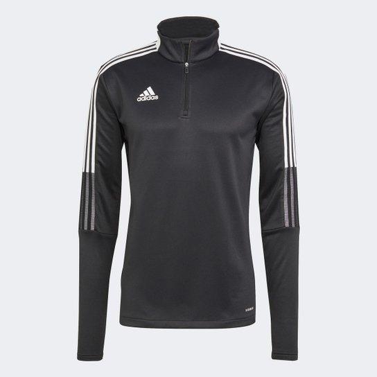 Blusa Adidas Tiro 21 Warm Top Masculina - Preto